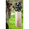 Sockel Eichenholz gehobelt, 20 x 20 x 60 cm (LxBxH)
