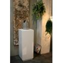 Galeriesockel MDF Weiß mit Tür 30 x 30 x 100 cm
