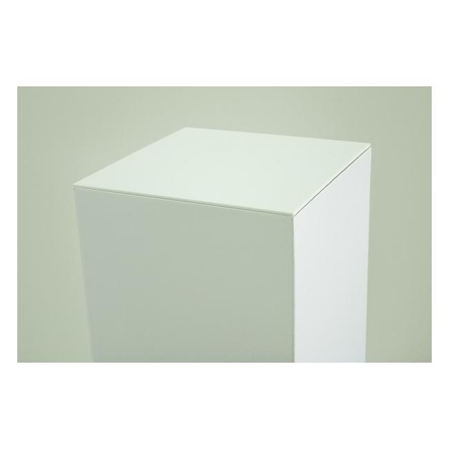 Sockelplatte (4mm Acrylglas weiß), Abmessung 45,2 x 45,2 cm (für Pappkarton-Sockel)