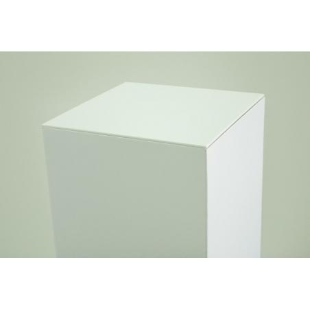 Plexiglasplatte 4mm weiß, Abmessung 45,2 x 45,2 cm (für Pappkarton-Sockel)