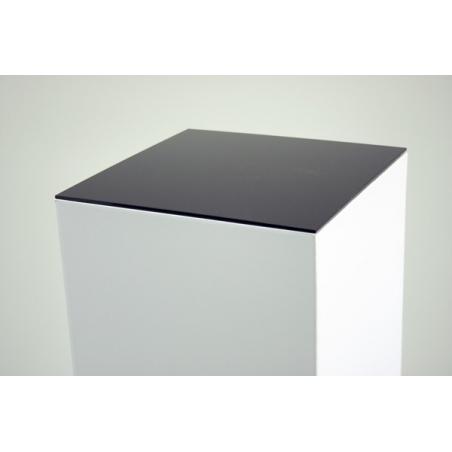 Plexiglasplatte 4mm schwarz, Abmessung 45,2 x 45,2 cm (für Pappkarton-Sockel)