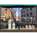 Sockel Pappkarton ganzflächig in Farbe (optionell mit Logo) bedruckt, 30 x 30 x 100 cm (LxBxH)