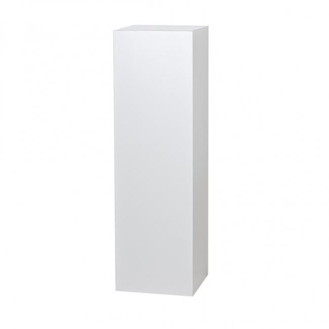 Galeriesockel weiß Hochglanz, 30 x 30 x 100 cm (LxBxH)
