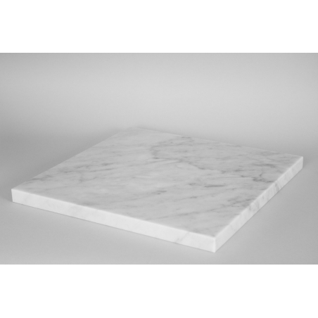 Sockelplatte weißer Marmor (Carrara, 20mm), 40 x 40 cm