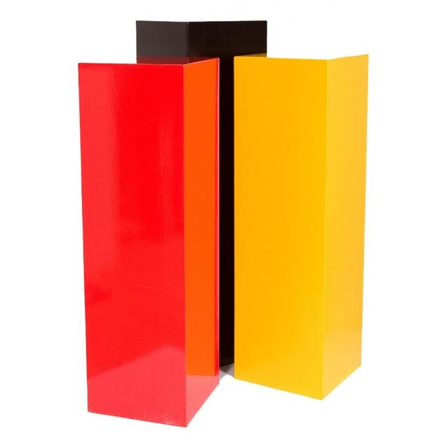 Galeriesockel in Farbe, 25 x 25 x 115 cm (LxBxH)