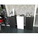 Galeriesockel matt-schwarz, 50 x 50 x 100 cm (LxBxH)