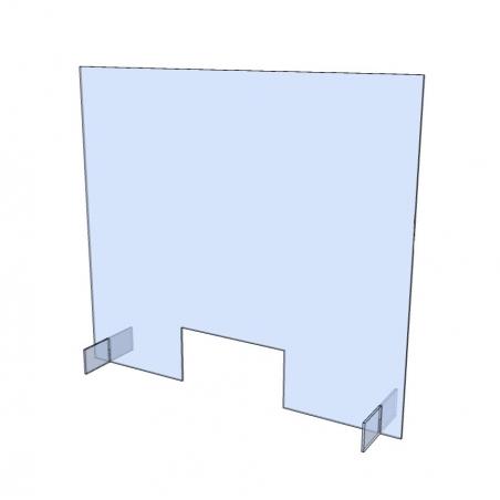 Staande plexiglas beschermwand / heldere afscherming voor balie - hoekmodel
