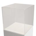 Vitrinenhaube aus extra transparentem 4mm-Acrylglas, 45 x 45 x 45 cm (LxBxH), Kanten poliert & geschliffen