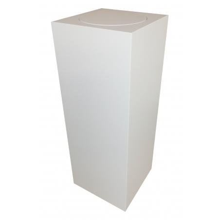 Sockel matt-weiß mit Drehplatte, 30 x 30 x 100 cm (LxBxH)