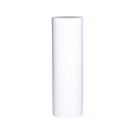 Runder Sockel matt-weiß, Ø 25 cm x 100 cm (H)