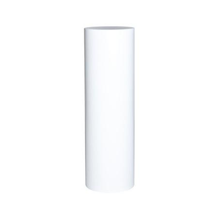 Runder Sockel matt-weiß, Ø 40 cm x 100 cm (H)