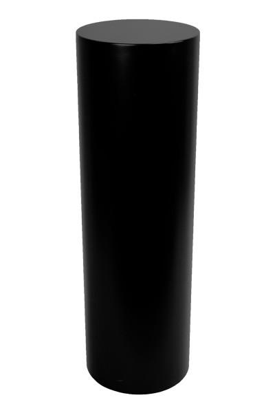 Runder Sockel schwarz