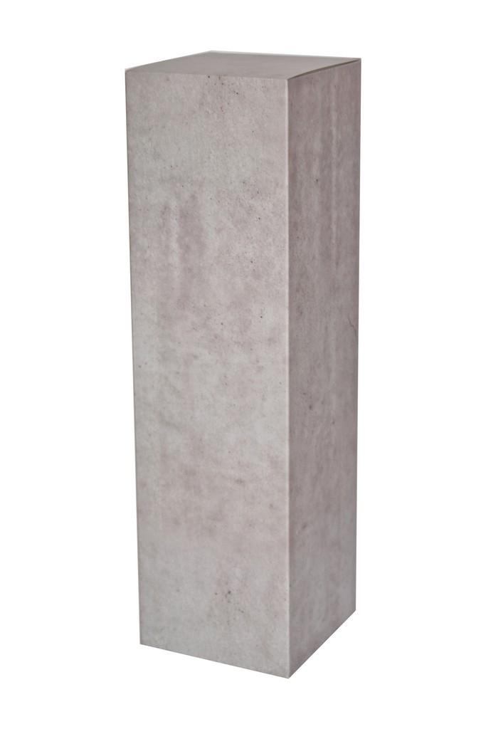 Sockel pappkarton beton-optik